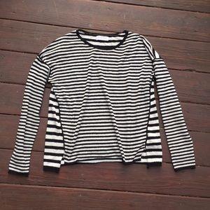 ☀️Velvet by Graham & Spencer Striped Sweater